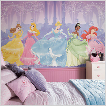 disney dancing princess wallpaper decals