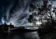 Dark side or light side? (PA236178) (Mel Stephens) Tags: uk bridge panorama water scotland aberdeenshire suspension very panoramic structure best manmade gps favourite printed stitched 2010 deeside ptgui cambusomay cixpix aberdonia