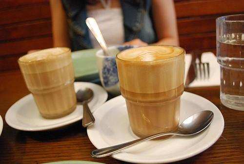 Caffe Latte z mlekiem sojowym