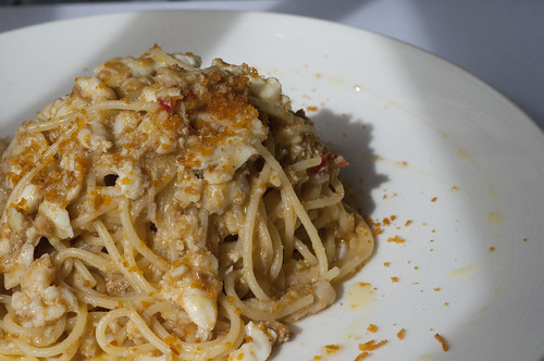 crab and chili pasta