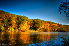 Fall.. (Bill Humason) Tags: sky fall water colors leaves oct hdr millcreekpark lakeglacier nikond90 24120mmnikonlens
