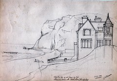 fishing at the little orm (canon 1) Tags: beach sketch llandudno sketchbookpages