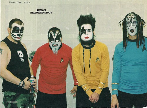 March 2002 Metal Edge Magazine - Statix X as Kiss