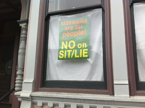 sidewalks are for people - NO on sit/lie