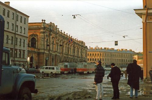 Leningrad im Januar 1990