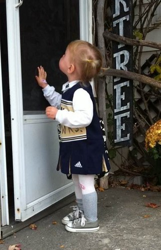 Halloween 2010 - A well beat up Notre Dame cheerleader