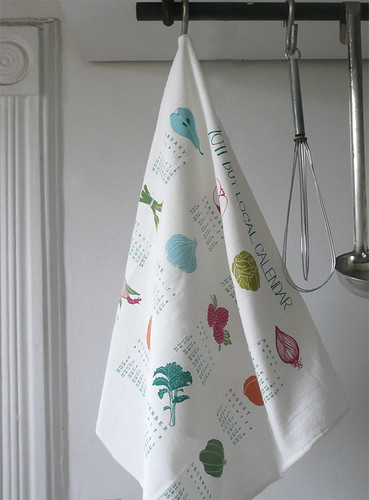 2011 Calendar Tea Towel hanging