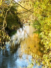 Volkach (barockschloss) Tags: fall water creek germany bayern bavaria wasser herbst bach franken refelction zeilitzheim