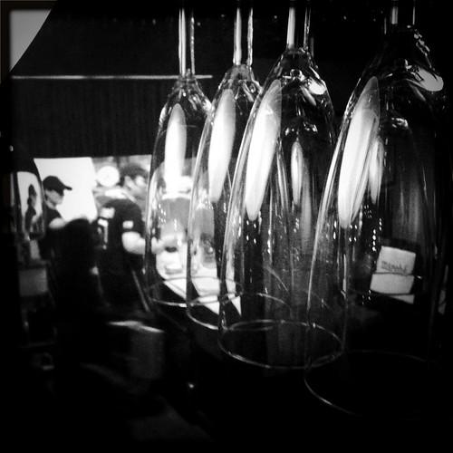 LudoBites kitchen & Champagne flutes.
