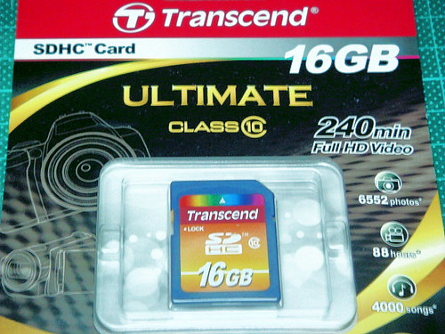 Transcend Class10 16GB SDHC 卡