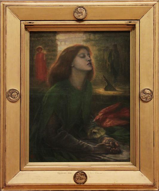 Beata Beatrix, Dante Gabriel Rossetti, about 1864-70