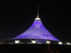 Khan Shatyr at night (upyernoz) Tags: kazakhstan forblog astana   khanshatyr