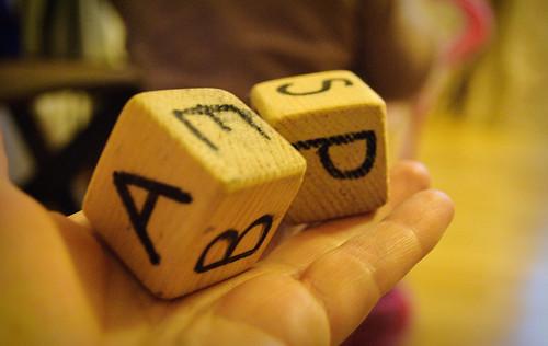 letter blocks. 316/365 Letter Blocks