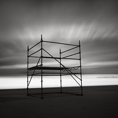 Throne (Maria Stromvik) Tags: sea sky cloud seascape beach water metal coast harbor seaside sand scaffolding belgium harbour blankenberge frame blankenberghe nd110 bwnd110 ndfiler bwnd8
