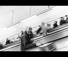 Escalator Racing [Explored] (Dkillock) Tags: motion david blur london 35mm canon underground eos lights focus dof angle bokeh mark f14 escalator tube wide wideangle racing full ii frame 5d usm fullframe ef mkii llens canonef35mmf14lusm killock 5dmarkii 5d2 5dmkii dkillock davidkillockphotography