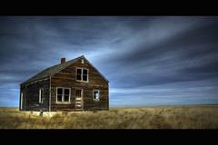 Alone on the Prairie (jsnowy2768) Tags: sky weeds montana homestead madoc prairie hdr abandone