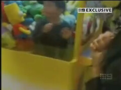Kid Trapped Inside Claw Machine