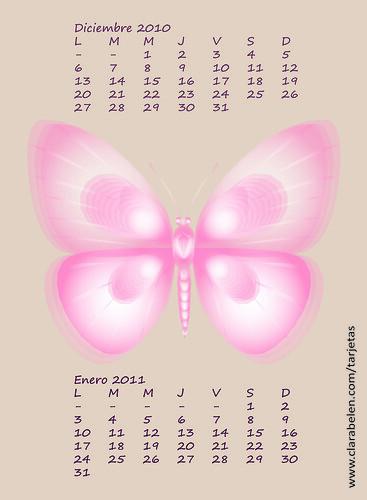 Calendario Almanaque Diciembre 2010 Enero 2011 Dedicado al blog de inspiraciones