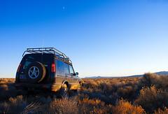 Rover, Moon, Sage (BHCMBailey) Tags: rock oregon landscape high desert fort central rover sage land ft sunriver landrover eastern