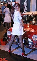 Car Show Girls (Lazenby43) Tags: girls glamour uniform models nurse nec promotions seams promogals