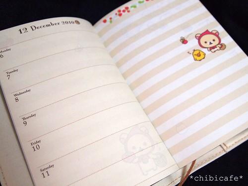 2011年用リラックマ手帳 週スケジュール2