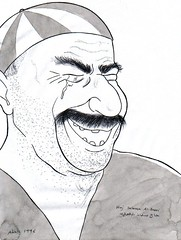 Haj Salman Al-Basri (Wasfi Akab) Tags: show china old original portrait people blackandwhite bw italy white man black color cute guy eye art beautiful beauty smile smiling illustration laughing pen ink truck painting paper geotagged fun happy book sketch eyes war europe paint pretty tears artist italia iran artistic drawing traditional iraq flight east story strip short painter laugh driver draw lovely mustache tear exile middle perugia iraqi ballpoint  nightingale middleast akab      wasfi