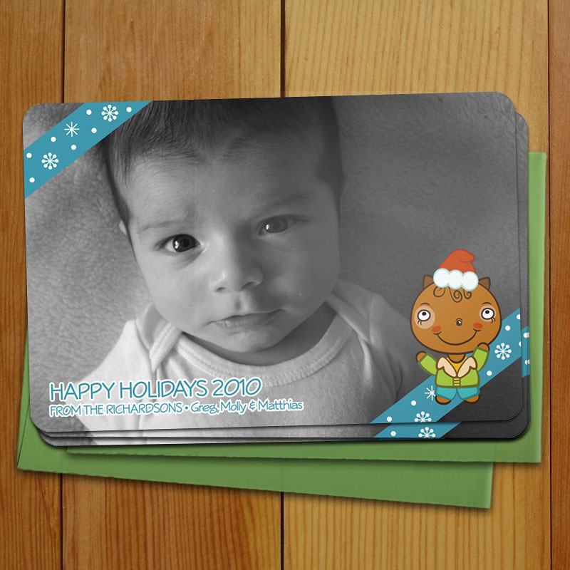 20 Custom Squirrel in the Snow Photo Cards