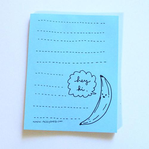 Hey Hi Banana Notepad