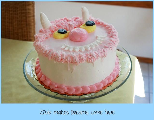 pinkie monster cake
