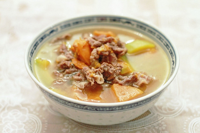 Simple Beef and Pumpkin Soupy Stew