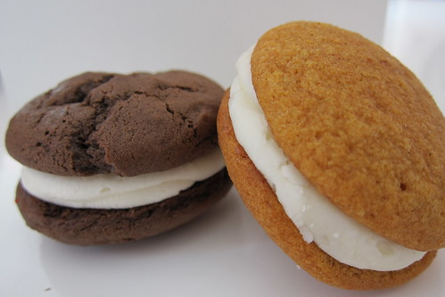 Sweet E's Bakeshop: chocolate and pumpkin spice whoopie pies