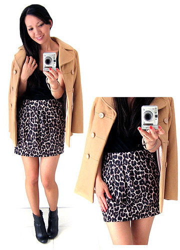 Miss Selfridge - Leopard Print Skirt