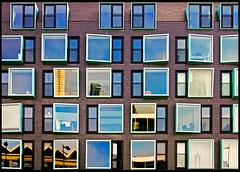 windows (heavenuphere) Tags: windows reflection building netherlands architecture rotterdam europe nederland zuidholland southholland rijnhaven 1750mm hillelaan