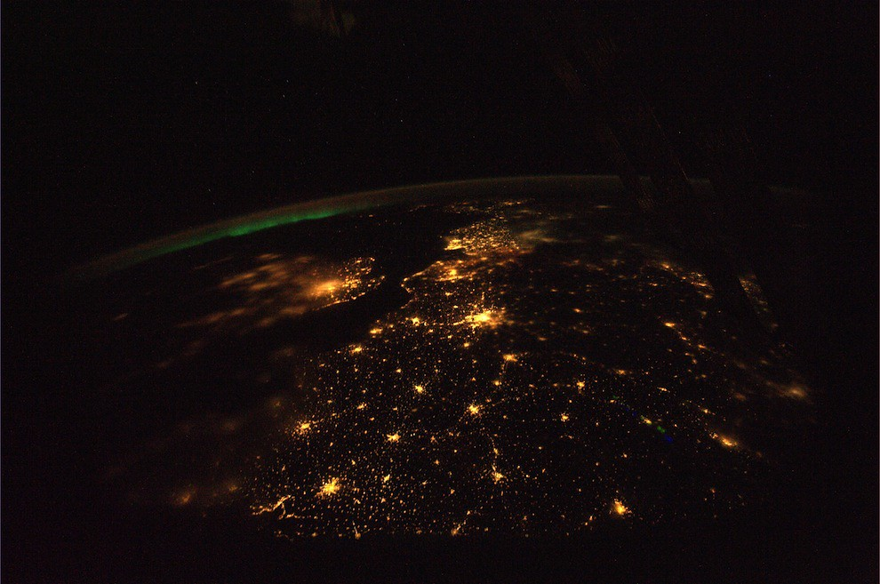 Incredible Photos from Space: Europe at night