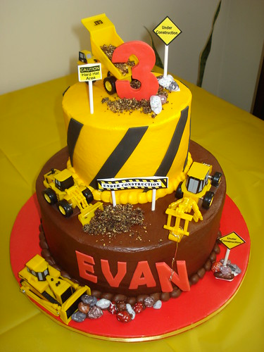 Evan's construction cake.