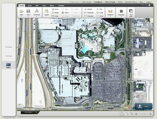 Autodesk University 2010 Floor Plan Mashup