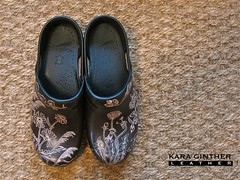 Hand carved Dansko clogs (.Kara.) Tags: leather carved shoes clogs danskos karaginther