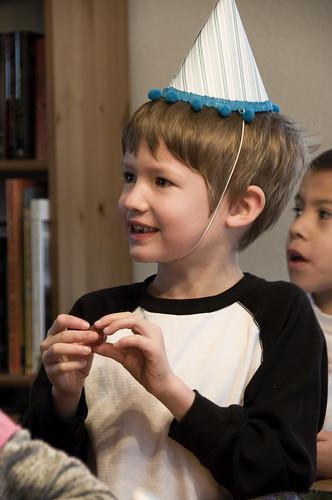 birthday boy + party hat