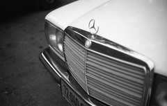 Mercedes Benz (Ilya.Bur) Tags: bw classic film car mercedes benz 200 electro 35 gs yashica w123 yashinon fomapan 1745mm
