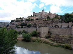 Toledo - Alcázar de Toledo by the River Tajo