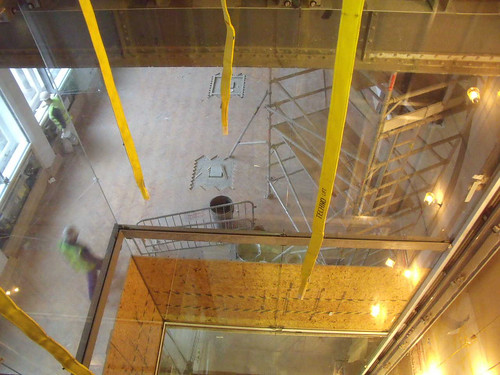 The New Lift Shaft Glazing