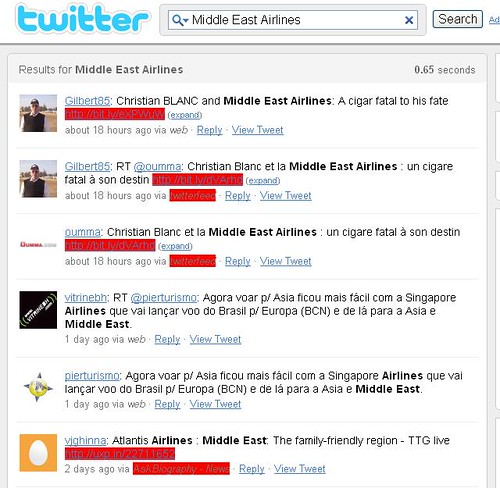 Middle east twitter search