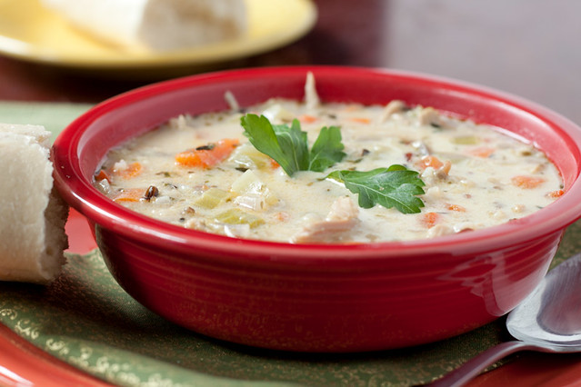 Roasted Turkey (or Chicken) with Wild Rice Soup Recipe