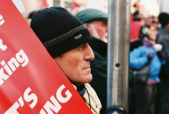 Bailout Protests Dublin Centre 27.11.10 (44) (Anthony Cronin) Tags: ireland analog superia protest protests protestors c41 irelanddublin bailout fuji irishlife street photography march crisis 200 dublinlife protest bank irish faces dublinirish protest streetsdublin dublinliving tpastreet dublinirelandnikonf8050mmf14d24mmf28danthonycroninanalogapug35mmfilmallrightsreservedirishphotographystreetsdublinstreetphotographystreetsofdublin 271110 antigovernment antieu antiimf irelands bailout photangoirl