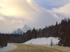 Up Storm Mountain (johnfuj) Tags: winter mountain snow canada clouds highway can alberta carstairs banffnationalpark stormmountain