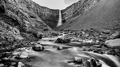 Hengifoss (sviet73) Tags: islande cascade noirblanc paysage