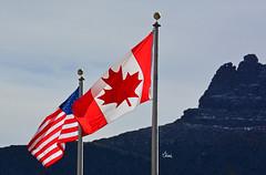 Happy Canada Day - 6034b+ (teagden) Tags: happy canada day canadaday 150 150years jenniferhall jenhall jenhallphotography photography nikon flag flags glacier national park glaciernationalpark