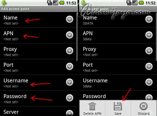 setting internet android, apn, acces pont