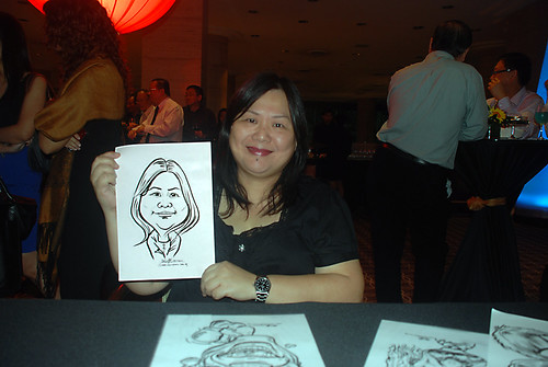 Caricature live sketching for Travel Partners Appreciation Dinner - World Fiesta - 6