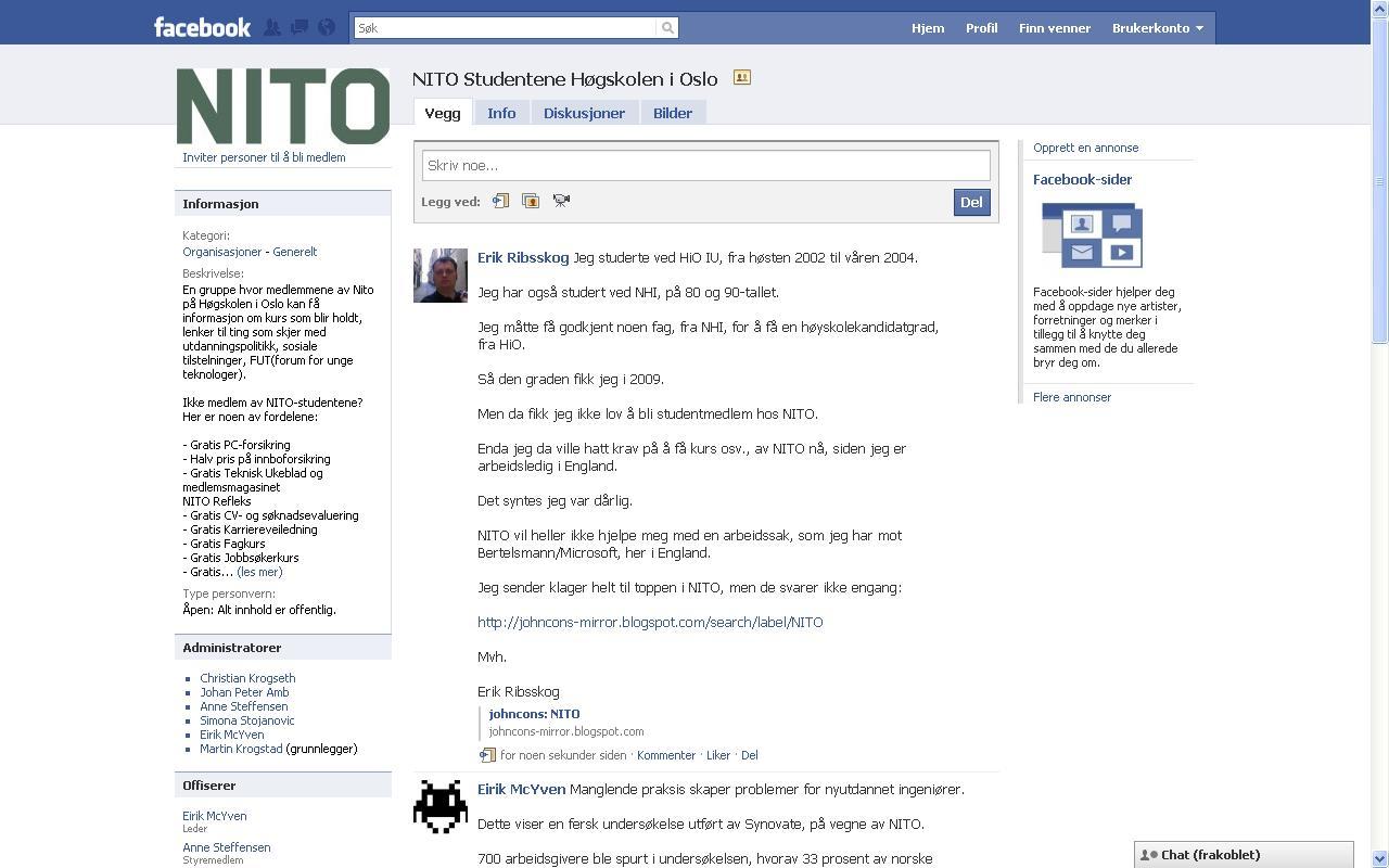 jeg klagde på nito på facebook